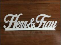 Herr & Frau felirat talppal fehér 50cm