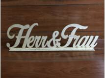 Herr & Frau felirat talppal 50cm
