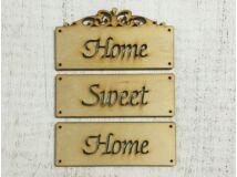 Home sweet home tábla 12cm