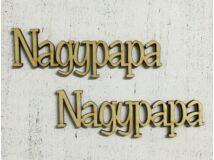 """Natúr fa """"Nagypapa"""" felirat 2db/csomag"""