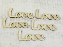 "Natúr fa ""Love"" felirat 9,5cm 5db/csomag"