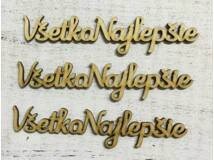 "Natúr fa ""Vsetko Najlepsie"" felirat 3db/csomag"