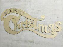 "Natúr fa íves ""Merry Christmas"" felirat 72,5cm"