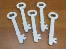 Fa kulcs fehér 5db/csomag
