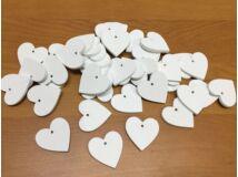 Fa szívek fehér 3cm 40db/csomag