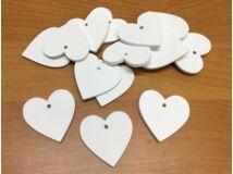 Fa szívek fehér 4cm 15db/csomag