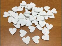 Fa szív fehér 2cm 50db/csomag