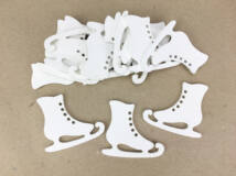 Fehér korcsolya 5cm 15db/csomag