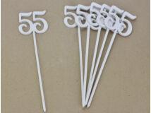 Beszúrható számok 55-ös fehér 6db/csomag