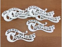 Merry Christmas íves fehér kicsi 6db/csomag