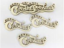 Natúr fa - Merry Christmas íves kicsi 6db/csomag