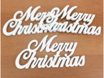 Merry Christmas felirat fehér 3db/csomag