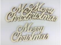 Natúr fa - Merry Christmas felirat  3db/csomag