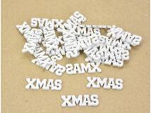 Xmas felirat mini fehér 30db/csomag