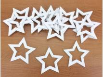 Lyukas csillag fehér 5cm 15db/csomag