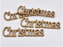 Christmas felirat arany 15cm 4db/csomag