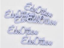 """Fa """"Édes Otthon"""" felirat lila 10cm 6db/csomag"""