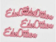 """Fa """"Édes Otthon"""" felirat málna 15cm 4db/csomag"""