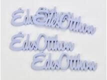 """Fa """"Édes Otthon"""" felirat lila 15cm 4db/csomag"""
