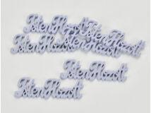 """Fa """"Isten Hozott"""" felirat lila 10cm 6db/csomag"""