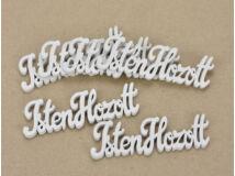 Isten Hozott felirat fehér 10cm 6db/csomag