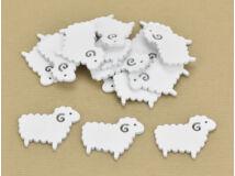 Fa bárány fehér 4x5cm 15db/csomag