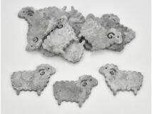 Fa bárány szürke 4x5cm 15db/csomag