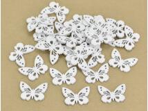 Fa pillangó fehér 3x4cm 30db/csomag