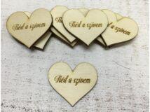 """Natúr fa - Szív """"Tiéd a szívem"""" 10db/csomag"""
