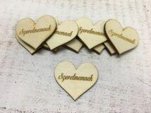 """Natúr fa szív """"Szerelmemnek"""" 10db/csomag"""