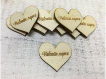 """Natúr fa szív """"Valentin napra"""" 10db/csomag"""