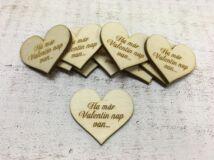 """Natúr fa szív """"Ha már Valentin nap van..."""" 10db/csomag"""