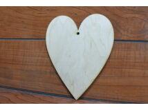 Natúr fa - Szív 15cm
