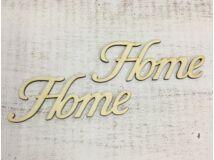 """Natúr fa - """"Home"""" felirat írott 14,5cm 2db/csomag"""