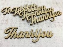 "Natúr fa - ""Thank You"" felirat 10cm 5db/csomag"