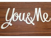 "Natúr fa - ""You & Me"" felirat 75cm"