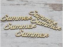 """Natúr fa - """"Summer"""" felirat 9,5cm 5db/csomag"""