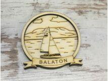 Natúr fa - Hűtőmágnes Balaton kerek 6,5cm