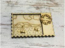 Natúr fa - Hűtőmágnes Balaton bélyeg 7cm