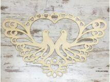 Natúr fa - Esküvői madarak 85cm