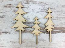 Natúr fa - Hegyvidéki fenyők 3db/csomag