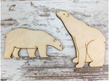Natúr fa - Jegesmedvék 10cm 2db/csomag