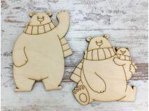 Natúr fa - Jegesmedvék sállal 10cm 2db/csomag