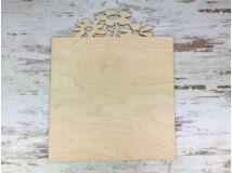 Natúr fa - Virágos tábla 30x37cm
