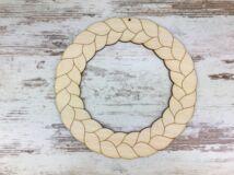 Natúr fa - Fonott koszorú 20cm
