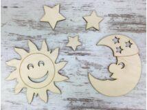 Natúr fa - Égitestek: nap, hold 3db csillag
