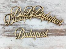 "Natúr fa - ""Budapest"" felirat 10cm 5db/csomag"