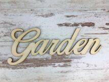 """Natúr fa - """"Garden"""" felirat 23cm"""