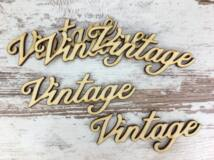 "Natúr fa - ""Vintage"" felirat 10cm 5db/csomag"