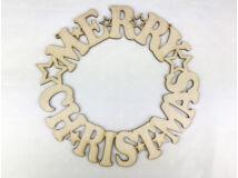 """Natúr fa - """"Merry Christmas"""" koszorú 25cm"""